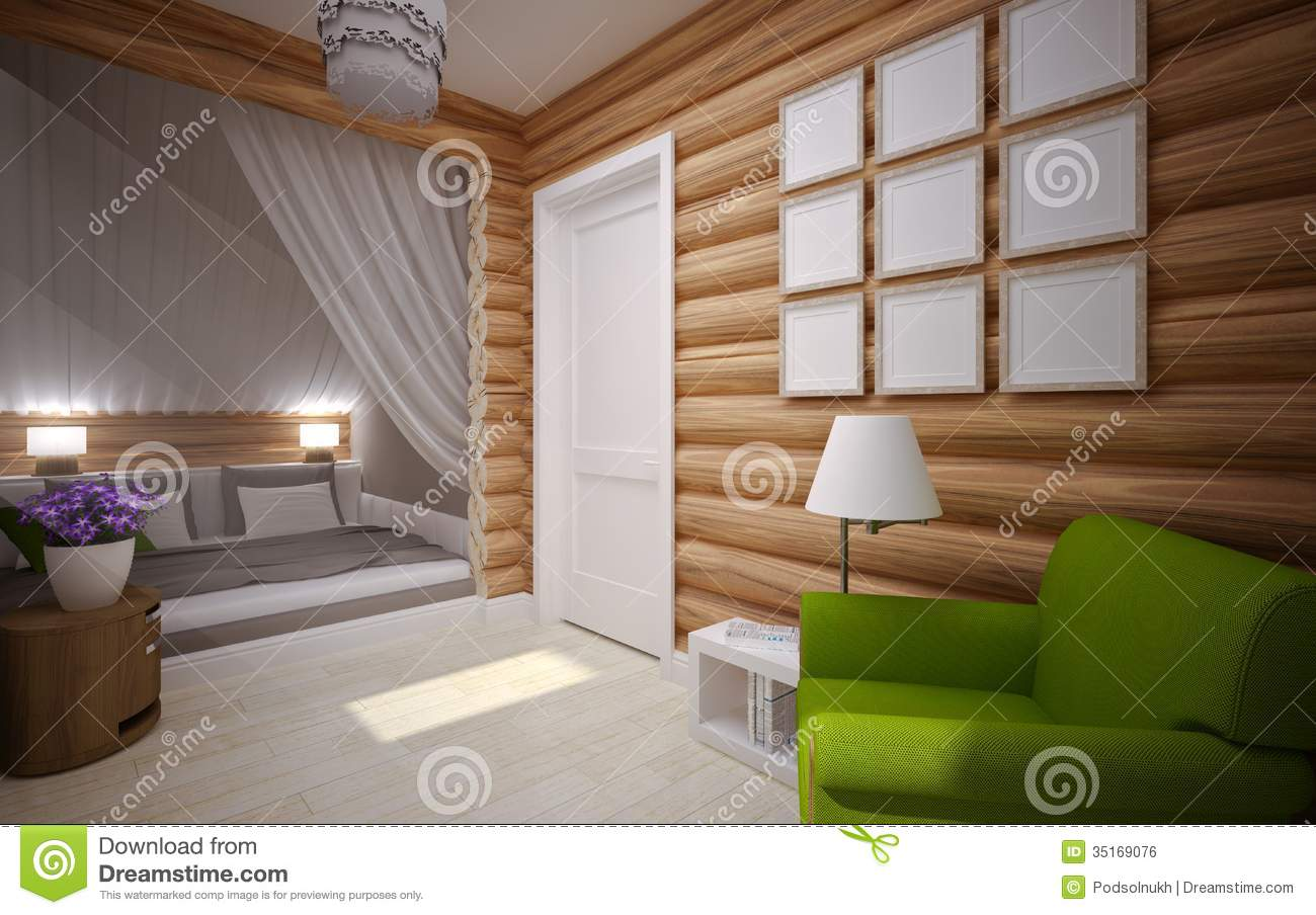 Wooden House Interior Stock Image Image 35169071