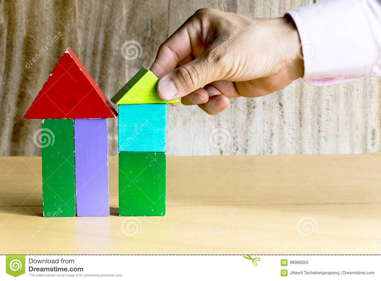 Incredible A Wooden House Model Stock Photo Image Of Play Little Download Free Architecture Designs Philgrimeyleaguecom
