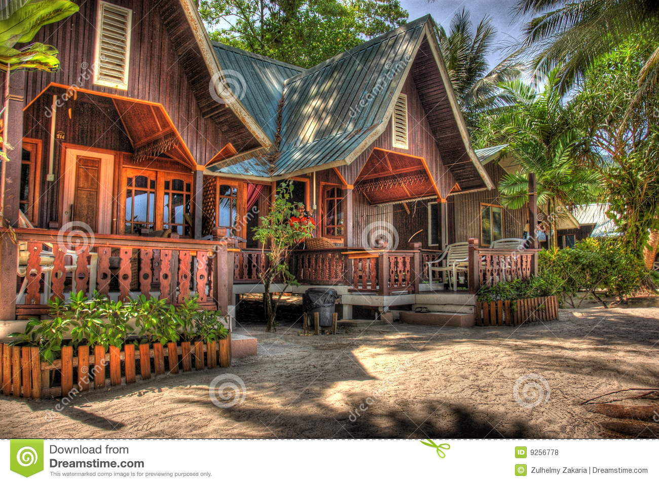 Wooden House Resort Royalty Free Stock Photos Image 9256778