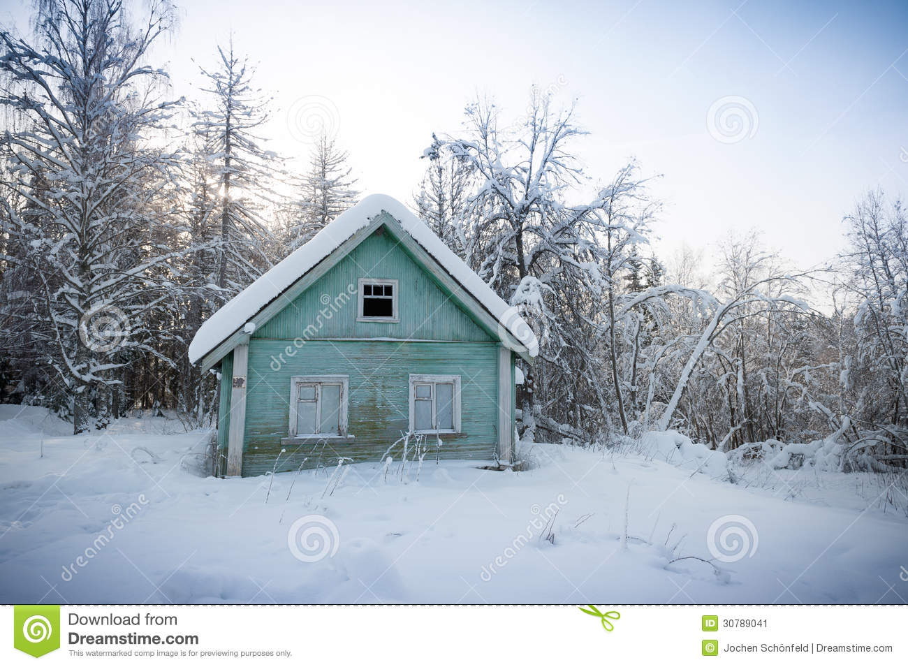 snow covered house - photo #32