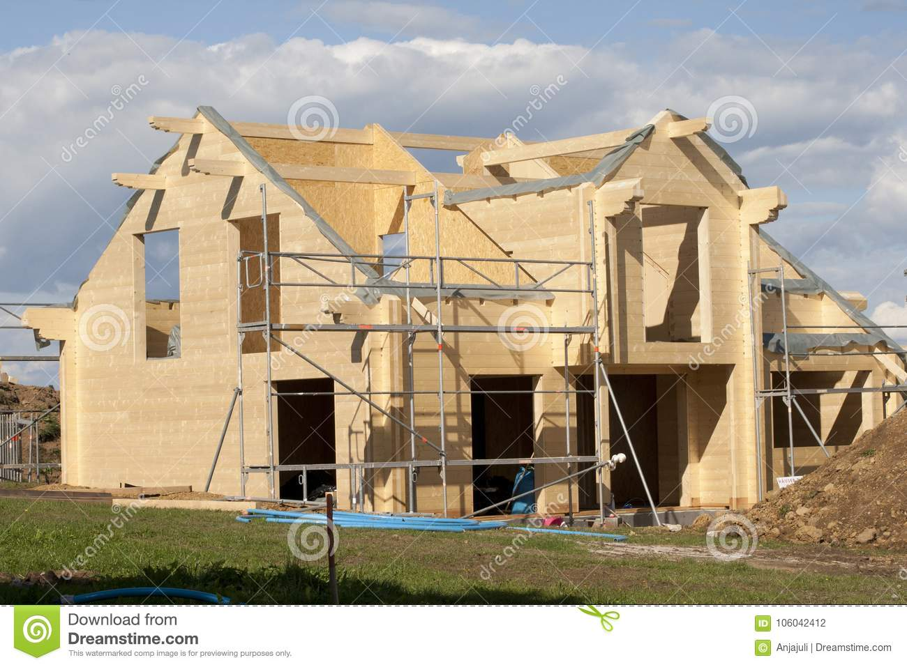 Construction of wooden houses, building materials 11