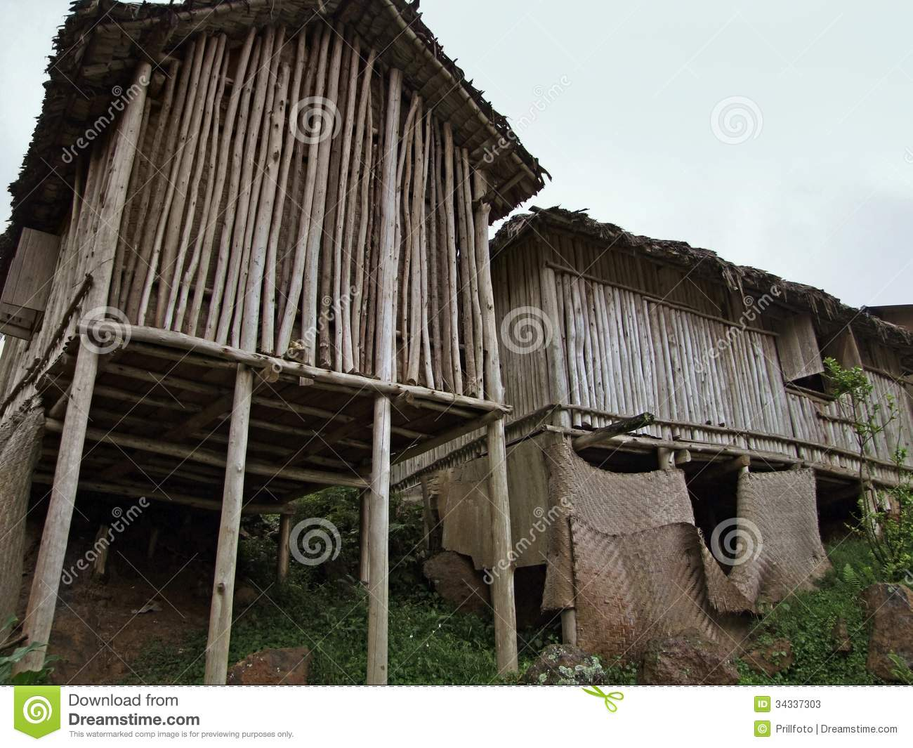 Stock Photos Wooden Houses Africa Low Angle Shot Traditional Uganda Image34337303 on Shed Cabin Interior