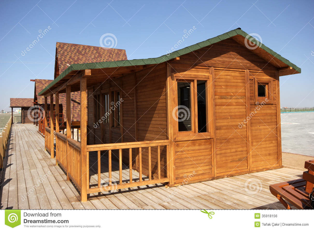 Wooden houses stock photo image of oriel plywood door for Wood house plan