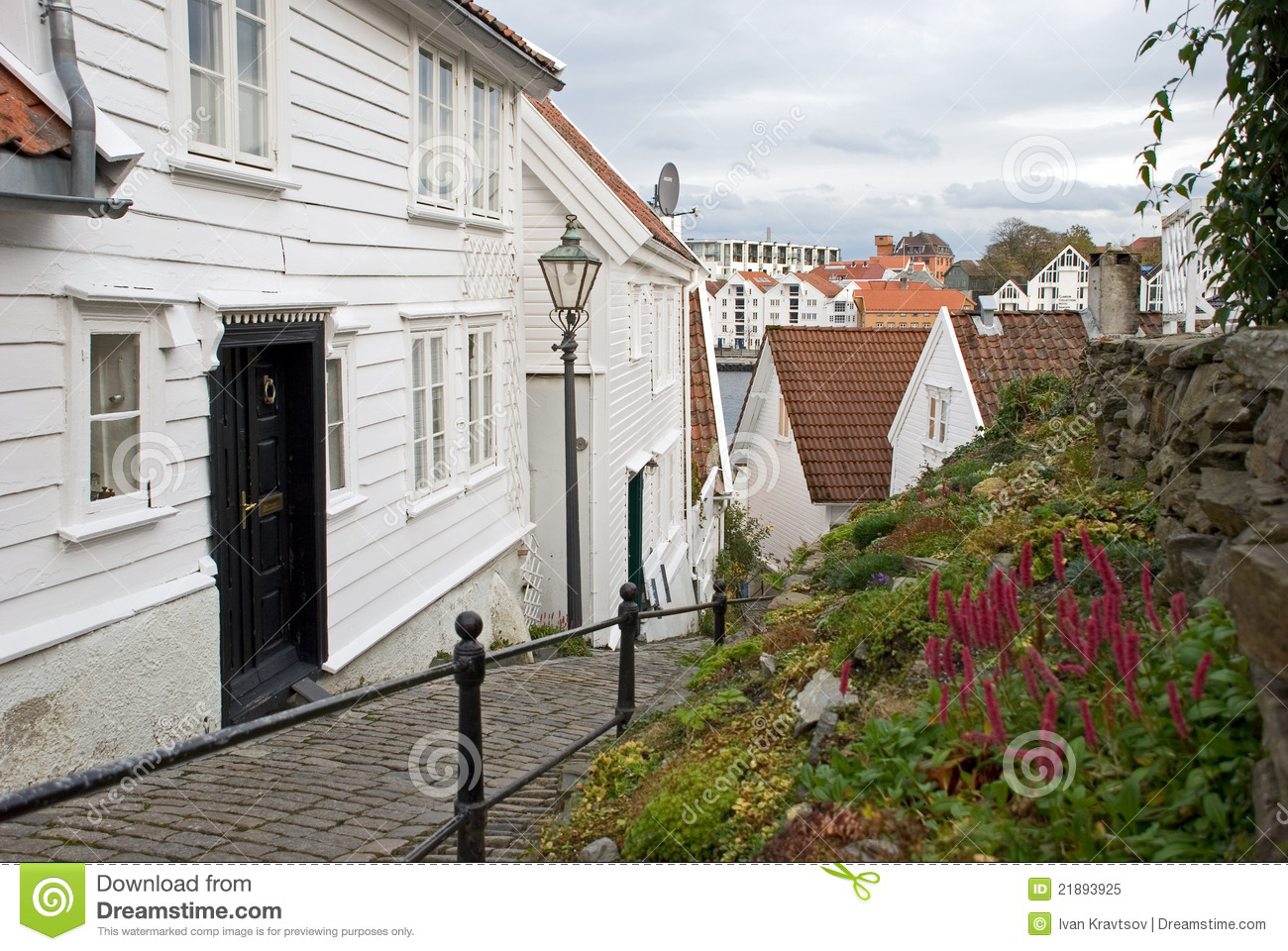 Wooden houses stavanger norway royalty free stock photo for Norway wooden houses