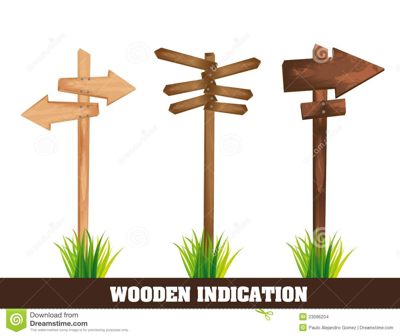 Wooden Indication Stock Images - Image: 23096204