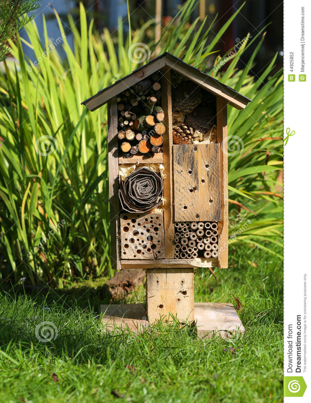 Wooden Insect House Garden Decorative Bug Hotel And
