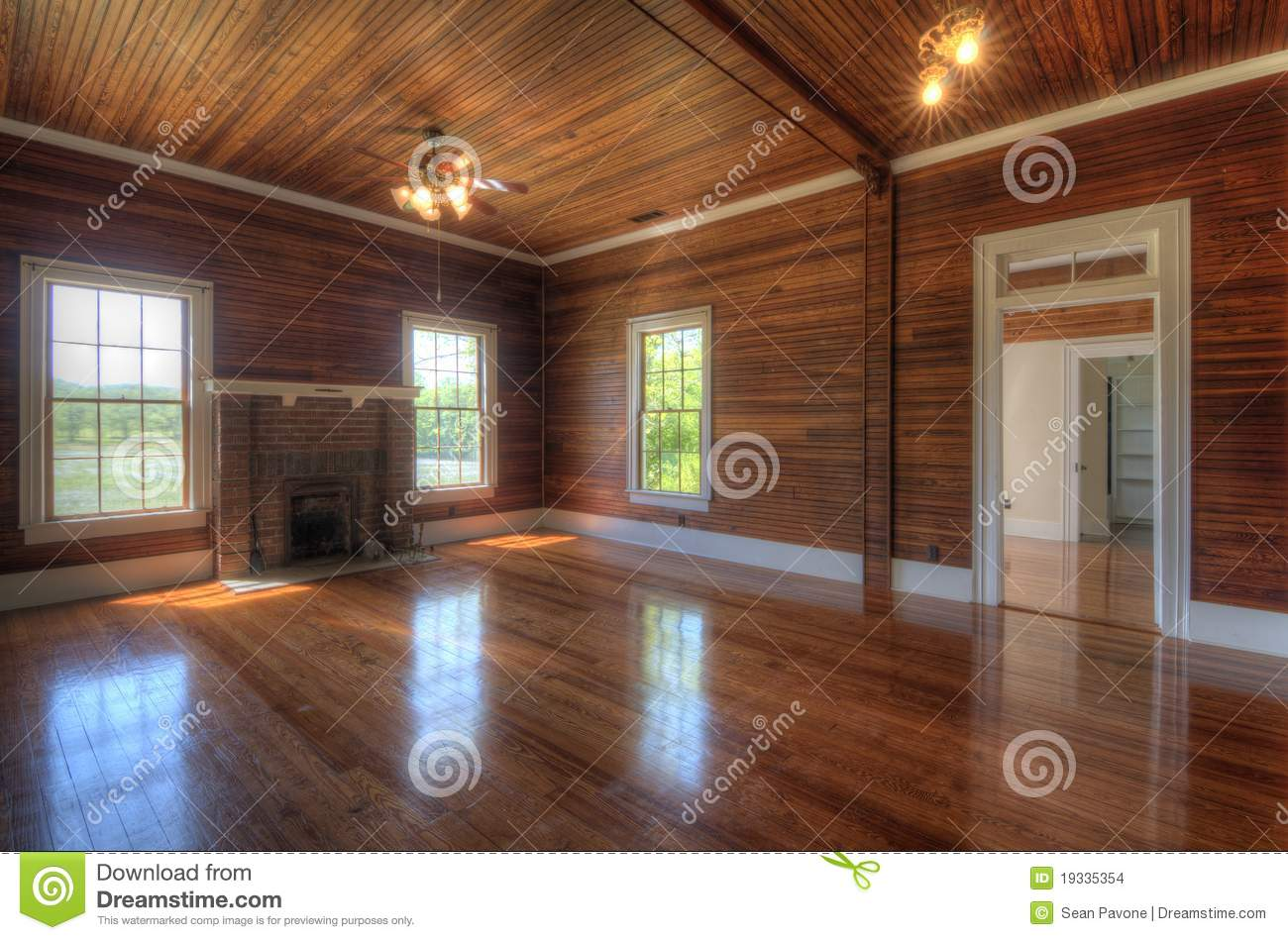 Interior Living Paneling Room Wooden ...