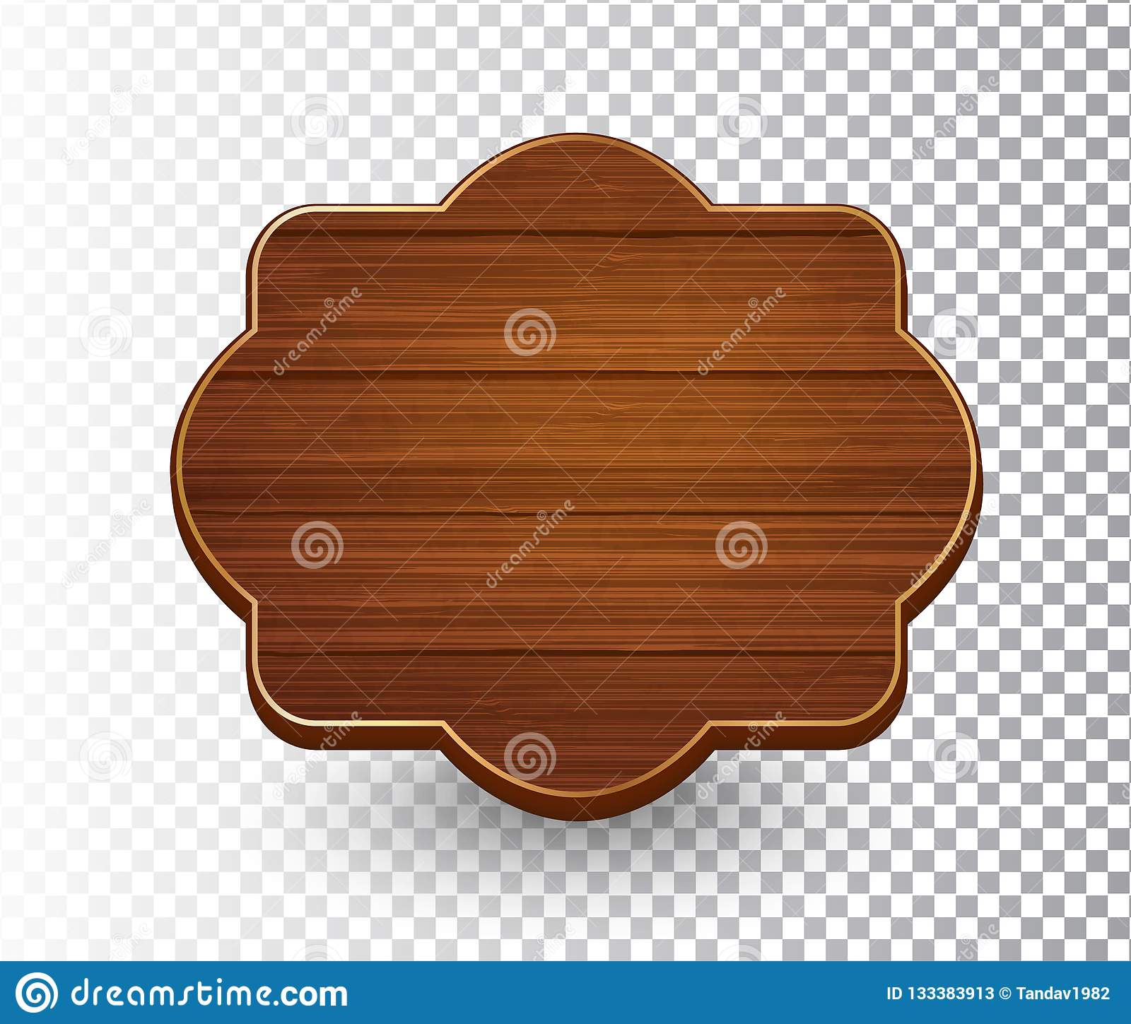 657dce94d8e7 Wooden isolated retro vintage frame template on transparent background.  Banner