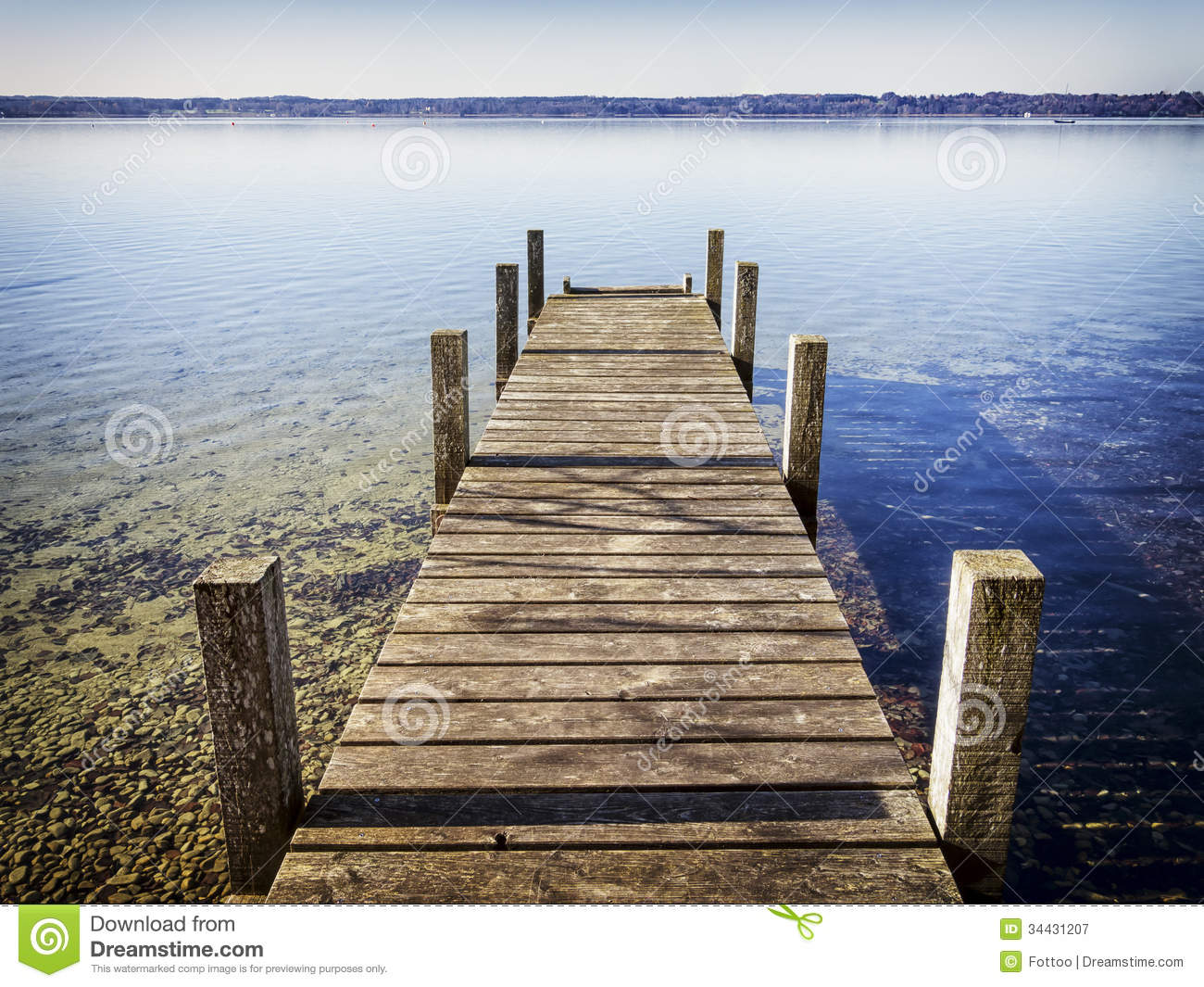 Wooden Jetty Royalty Free Stock Photography - Image: 34431207