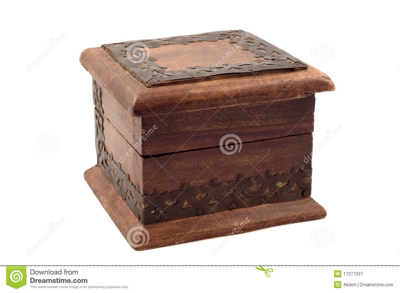 Wooden Jewelry Box Royalty Free Stock Photography - Image: 17277297