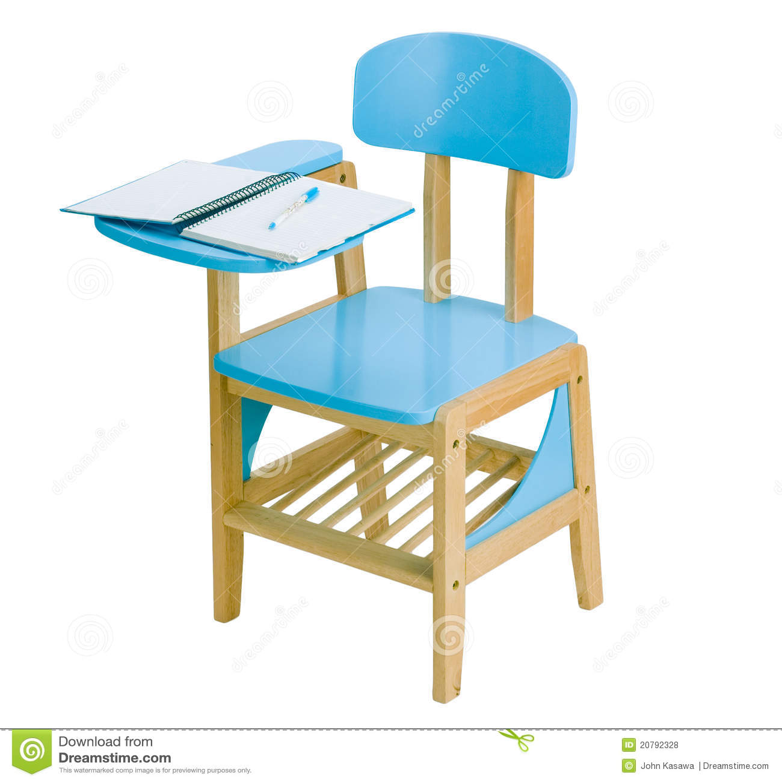 Blue Chair Kid Study Wooden ...