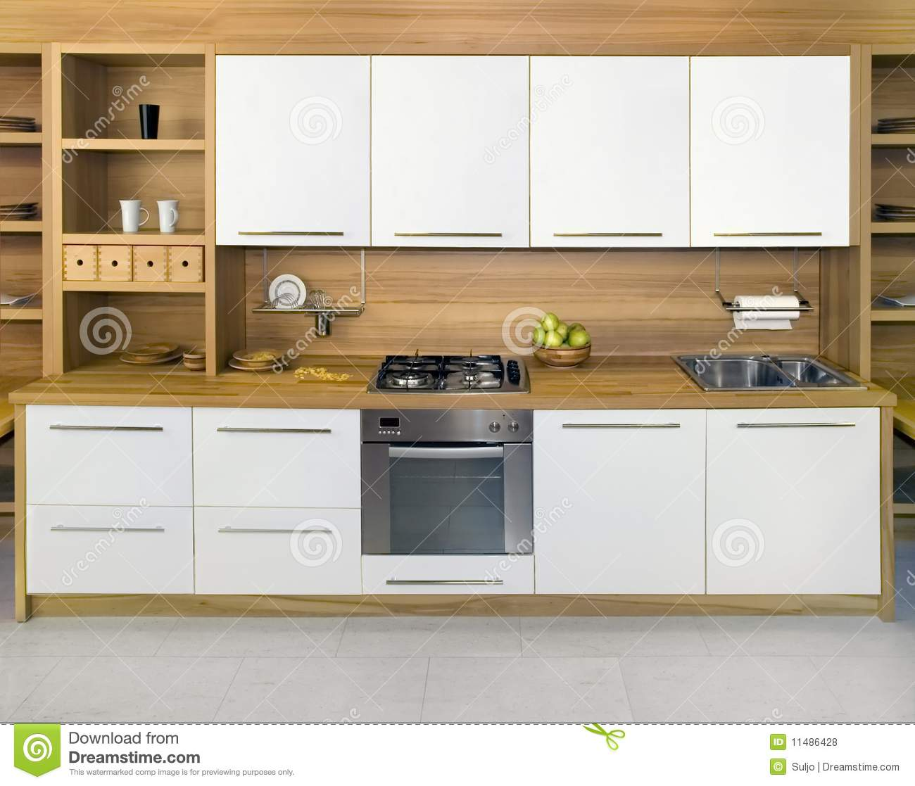 Wooden Kitchen Royalty Free Stock Photos Image 11486428
