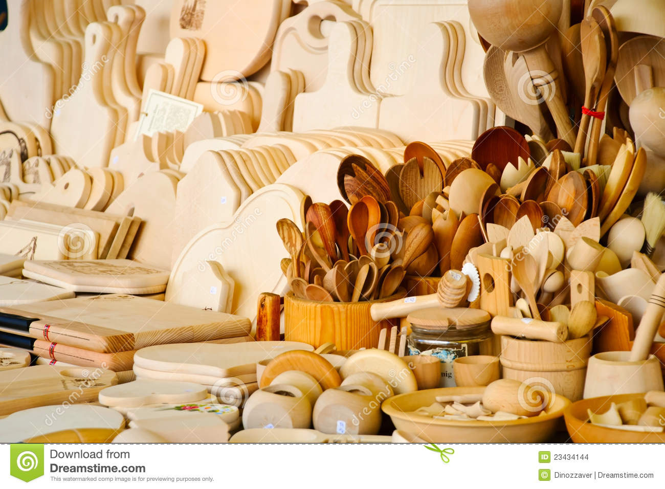 Wooden Kitchen Accessories ~ Wooden kitchen accessories stock photo image of retro
