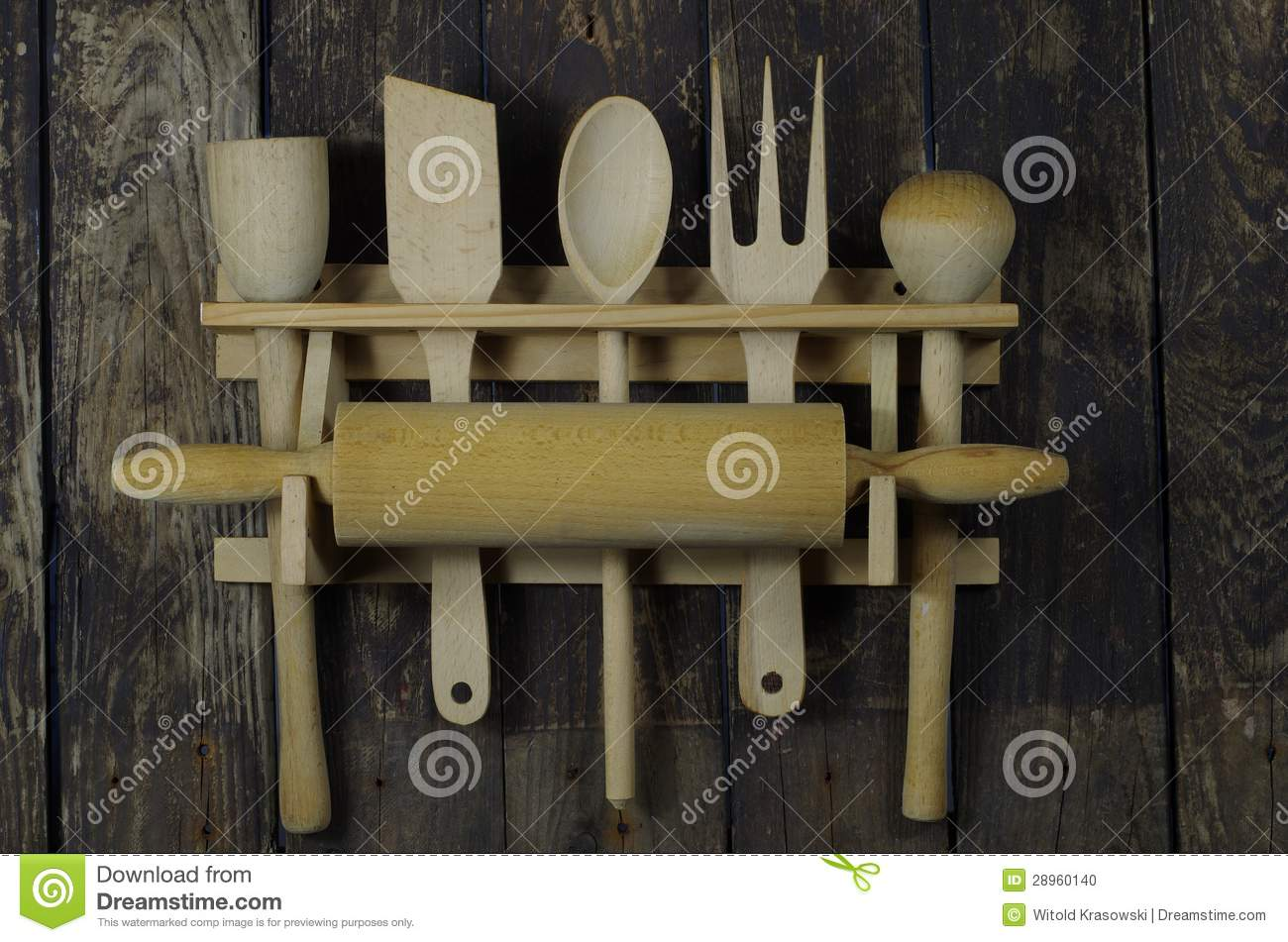 Wooden Kitchen Accessories Stock Photo - Image: 28960140