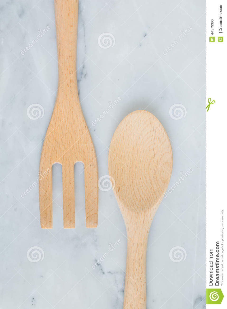 Wooden kitchen utensils stock photo image 44573366 for Table utensils