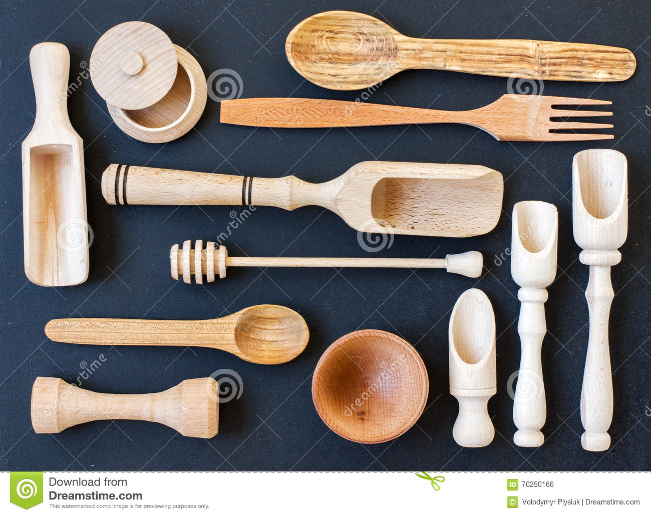 Wooden Kitchen Utensils Stock Photo Image Of Items Antique 70250166