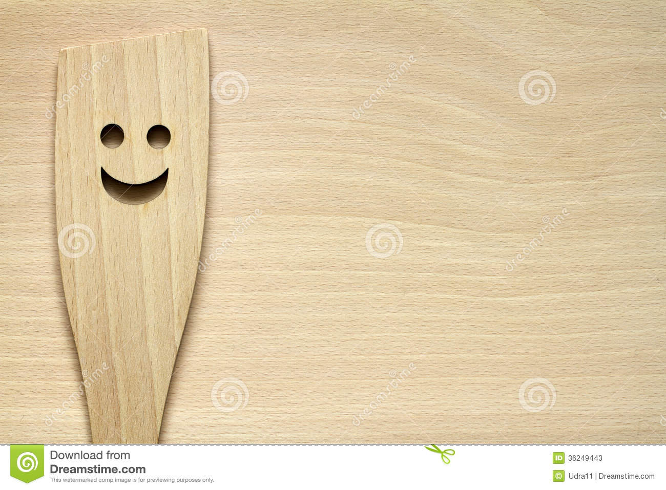 Wooden Kitchenware On Cutting Board Stock Photos - Image ...