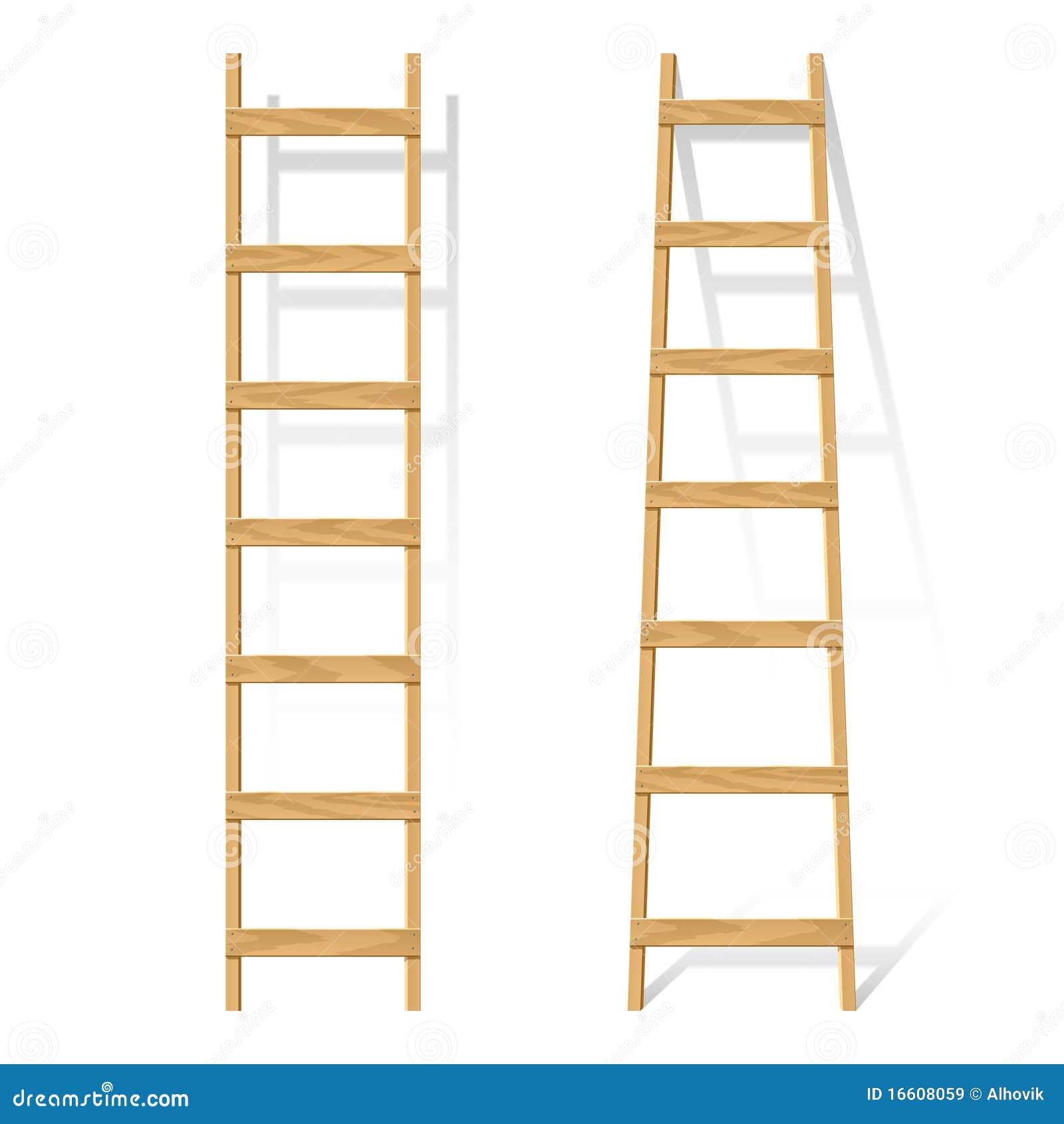 Wooden Ladder Stock Vector Image Of Illustration Ladder