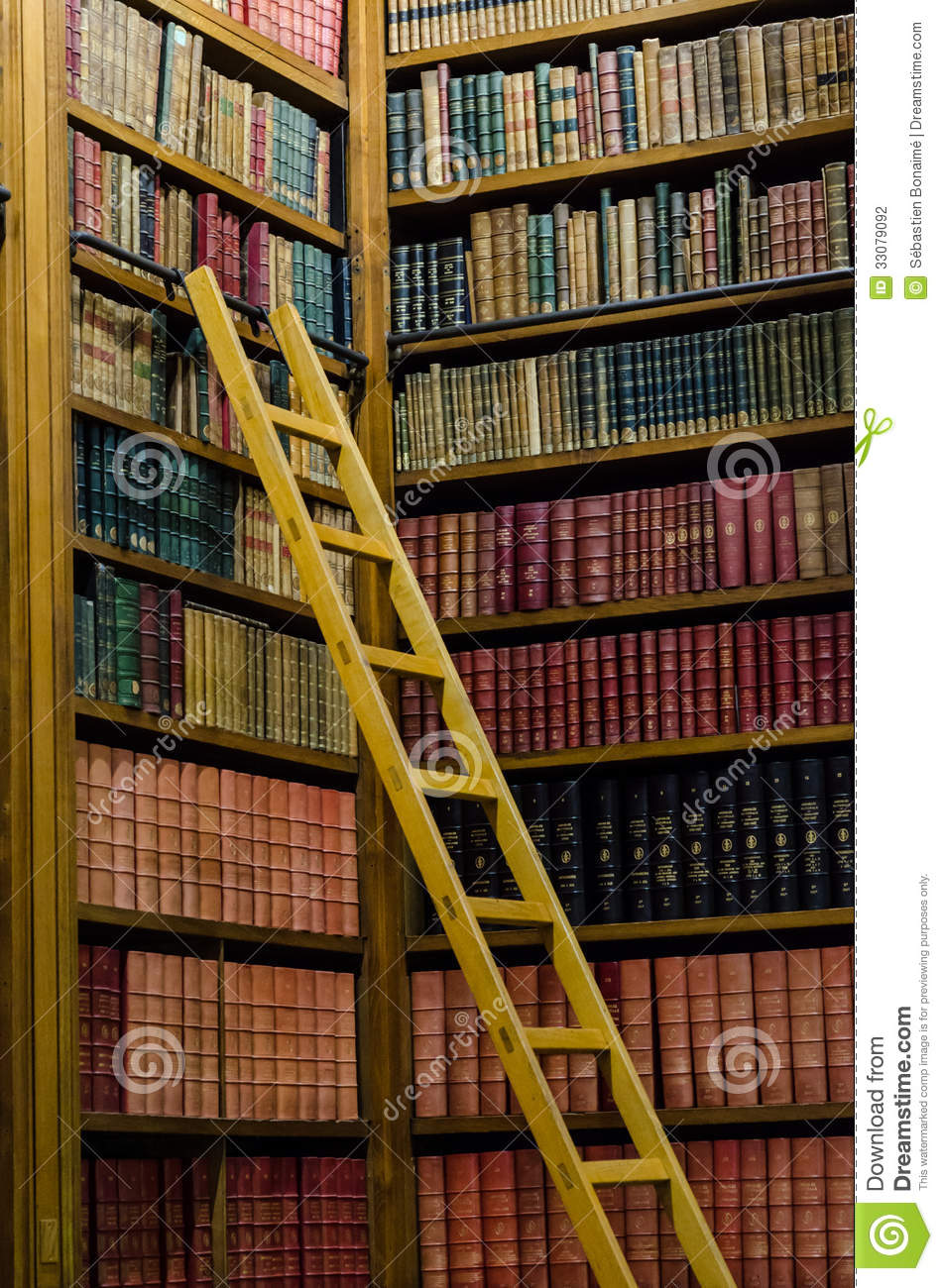 Wooden Ladder Stock Photo Image Of Encyclopedia Classic