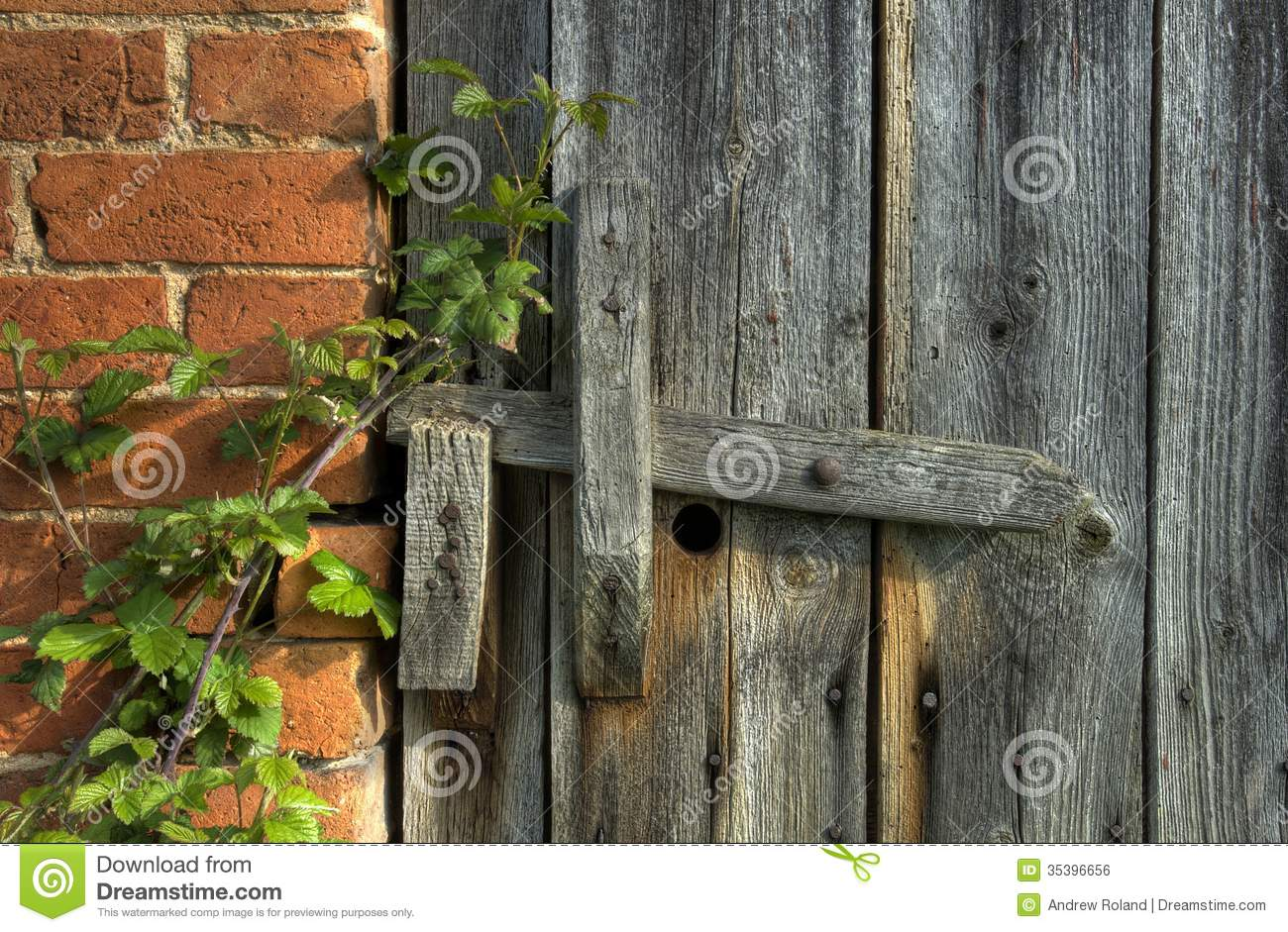 Wooden Latch Royalty Free Stock Image - Image: 35396656