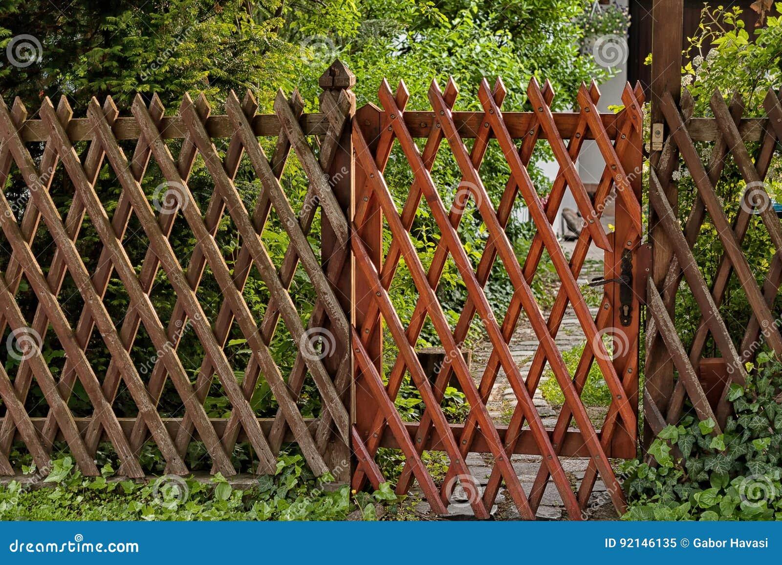 Wooden lattice grid stock image. Image of mesh, door - 92146135