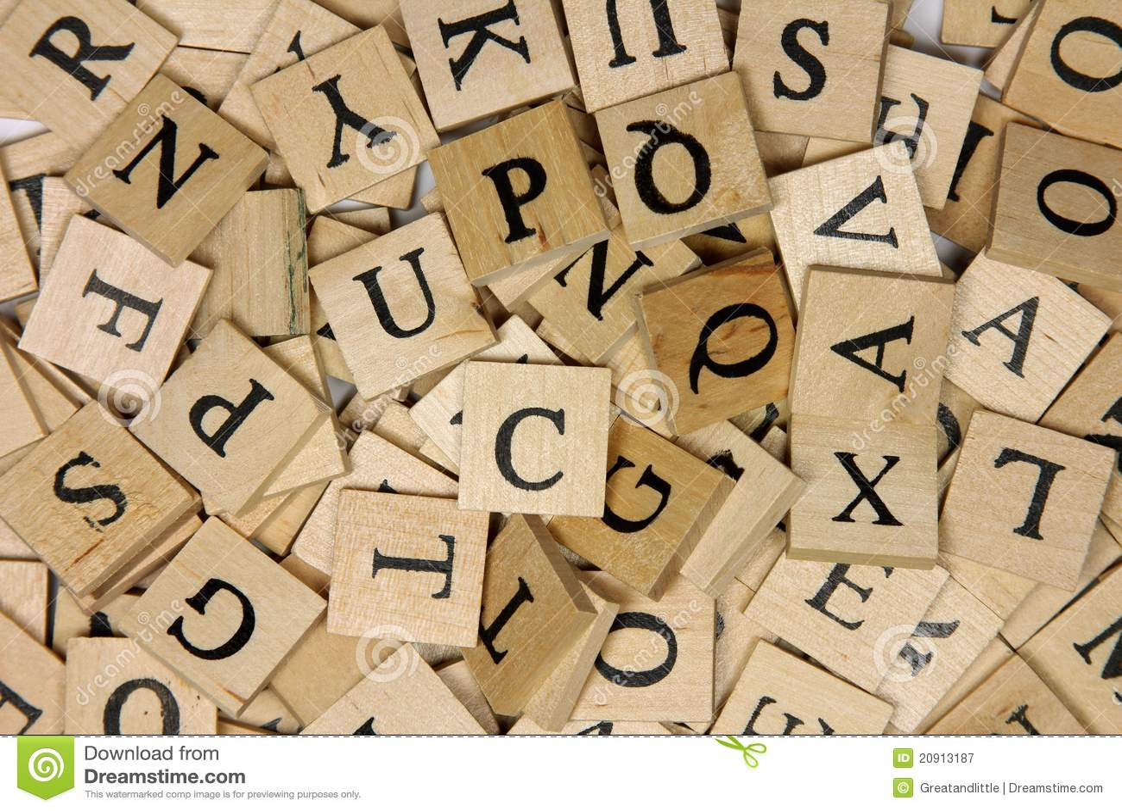 Wooden letter tiles stock image. Image of wood, tile   20913187