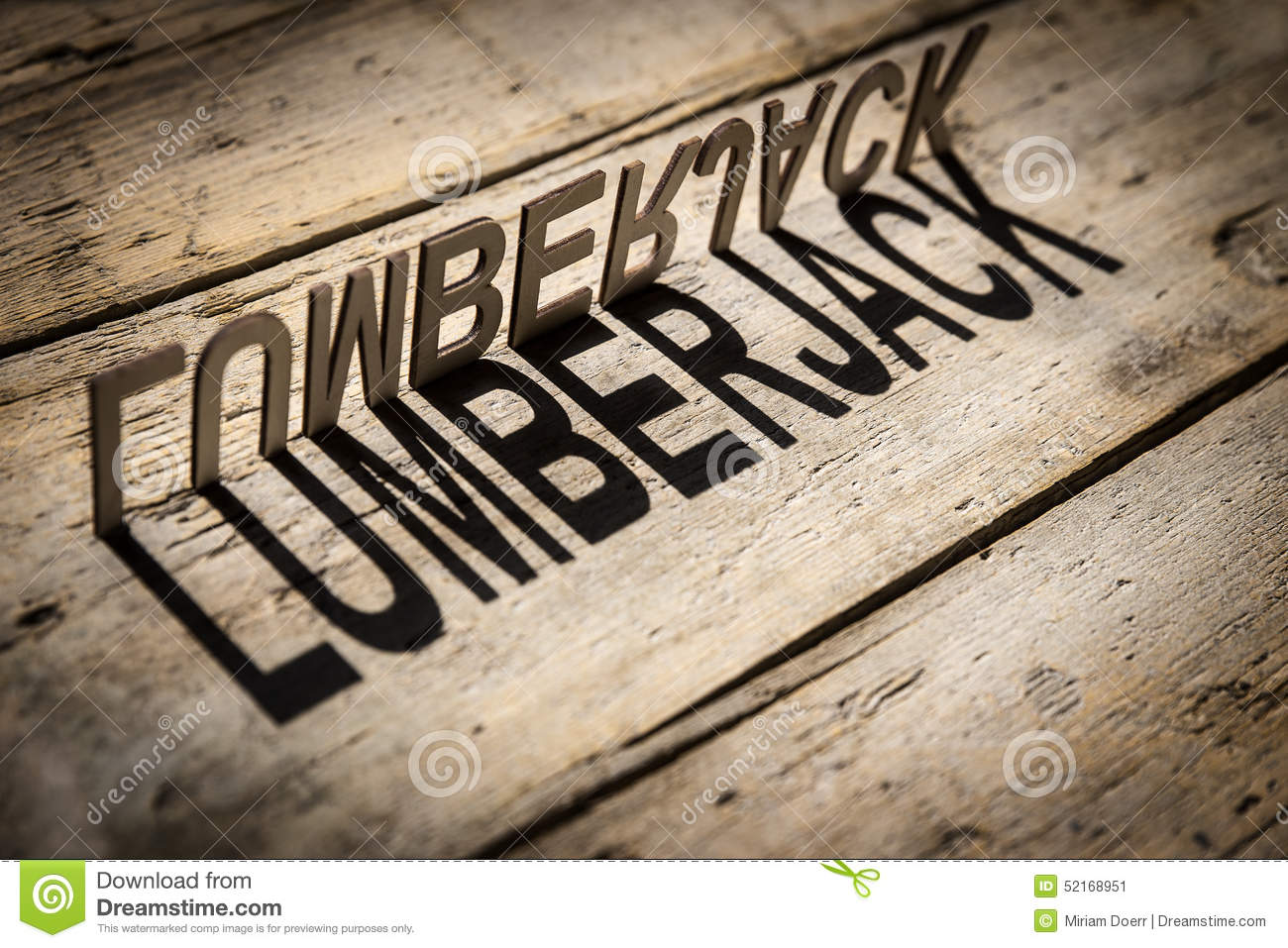 wooden letters build the word lumberjack stock photo image 52168951. Black Bedroom Furniture Sets. Home Design Ideas