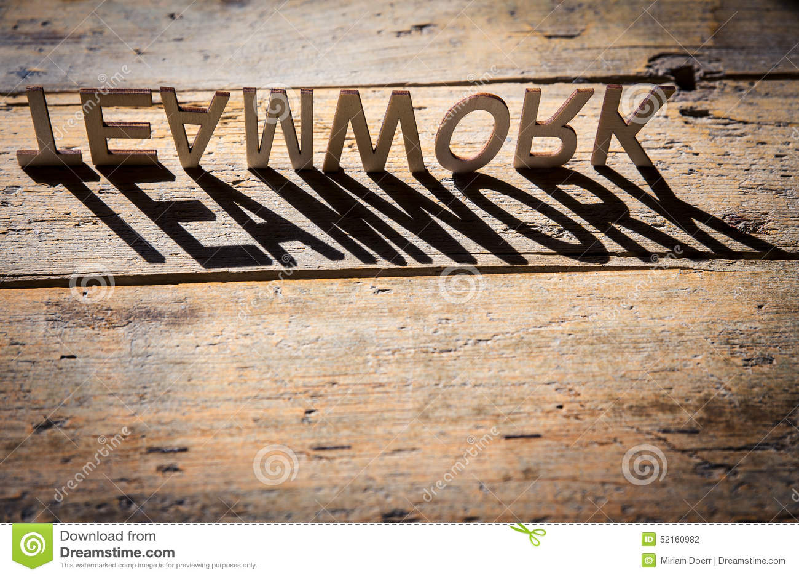 wooden letters build the word teamwork stock photo image 52160982. Black Bedroom Furniture Sets. Home Design Ideas