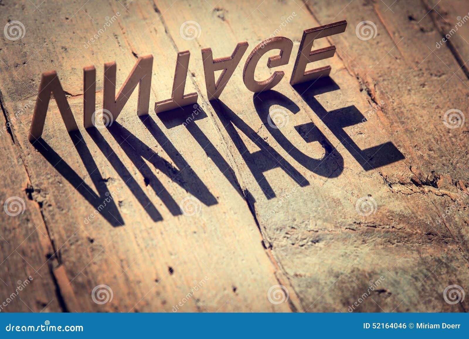 vintage The word