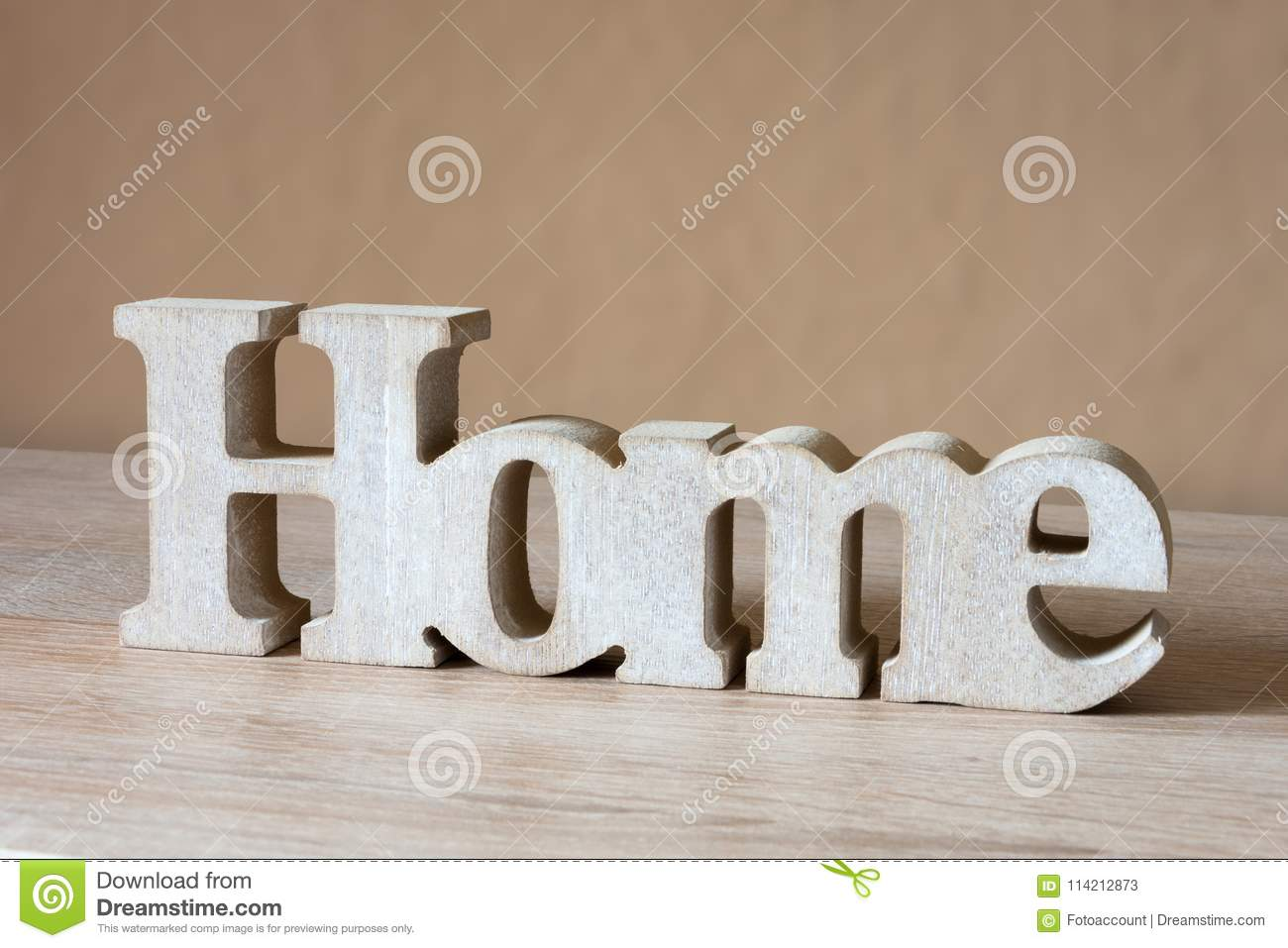 wooden letters home decorative wooden word stock image image of