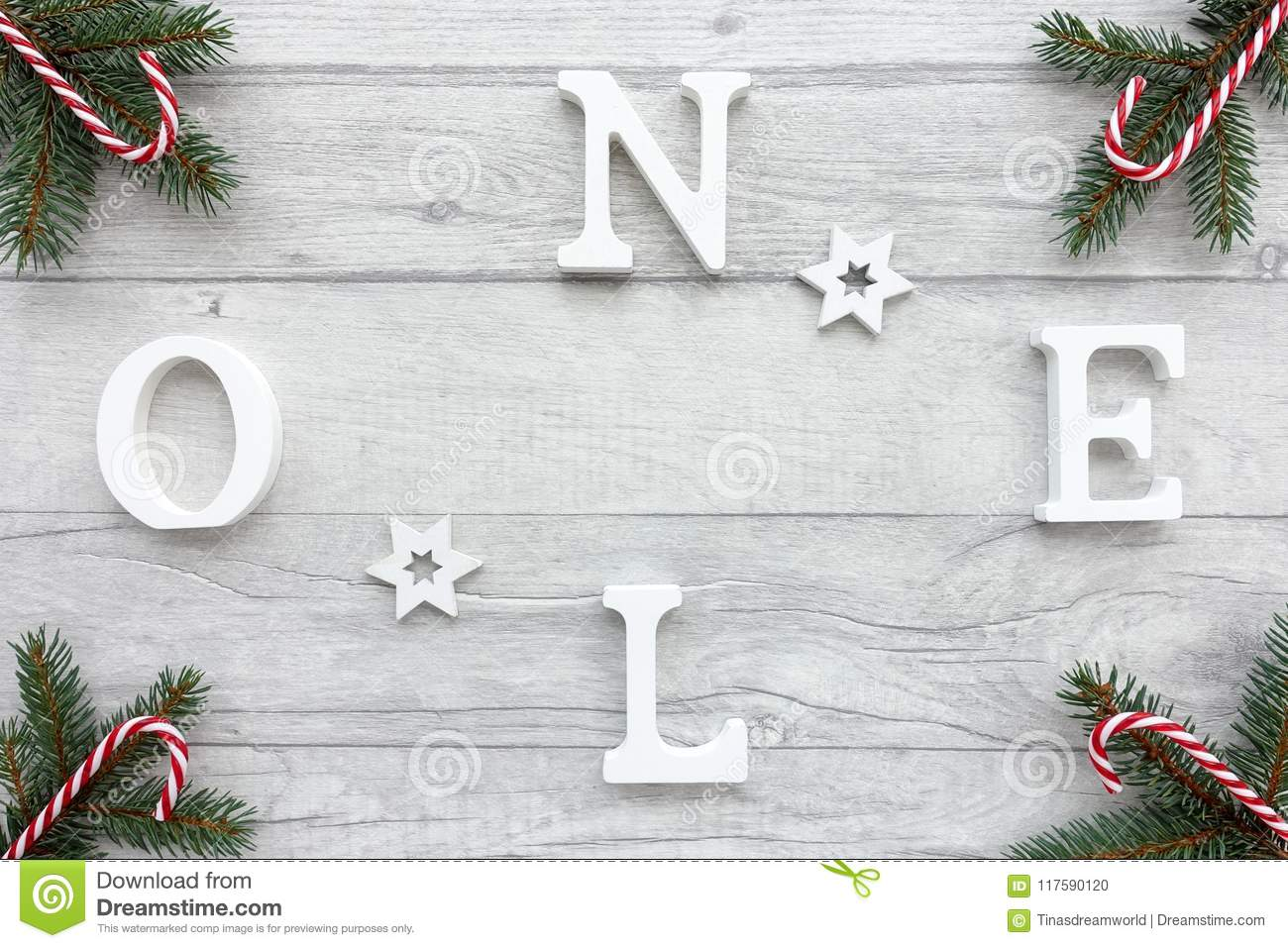 Wooden Letters Noel On Christmas Background Stock Photo Image Of