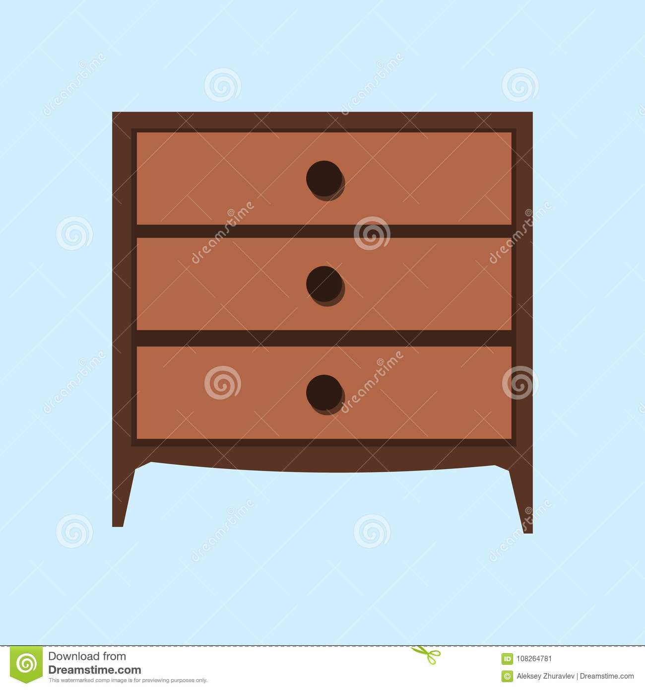 retro style furniture. Wooden Light Brown Chest Of Drawers. Made Natural Materials. Vintage Retro  Style Furniture