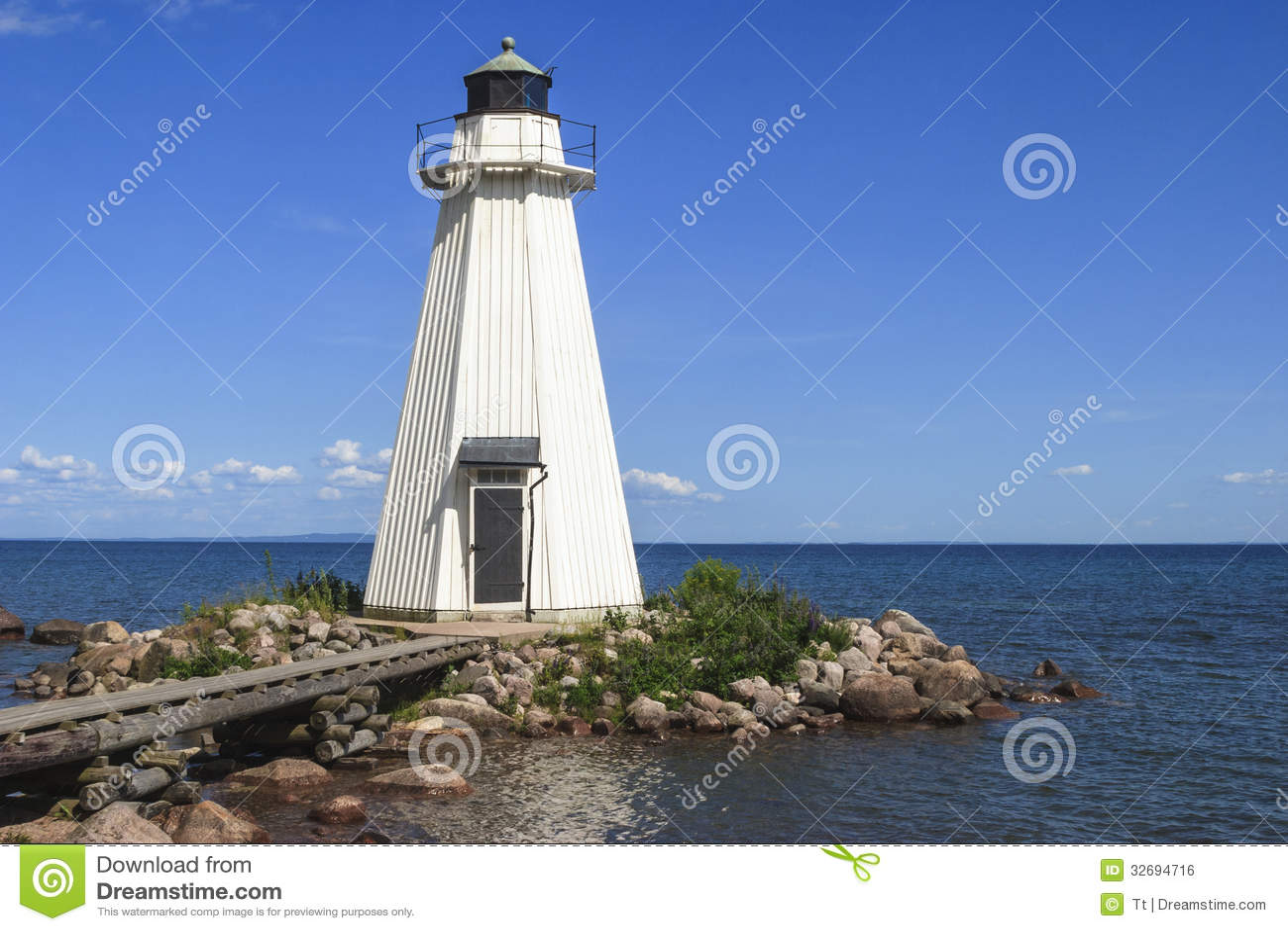 Wooden Lighthouse Royalty Free Stock Image Image 32694716