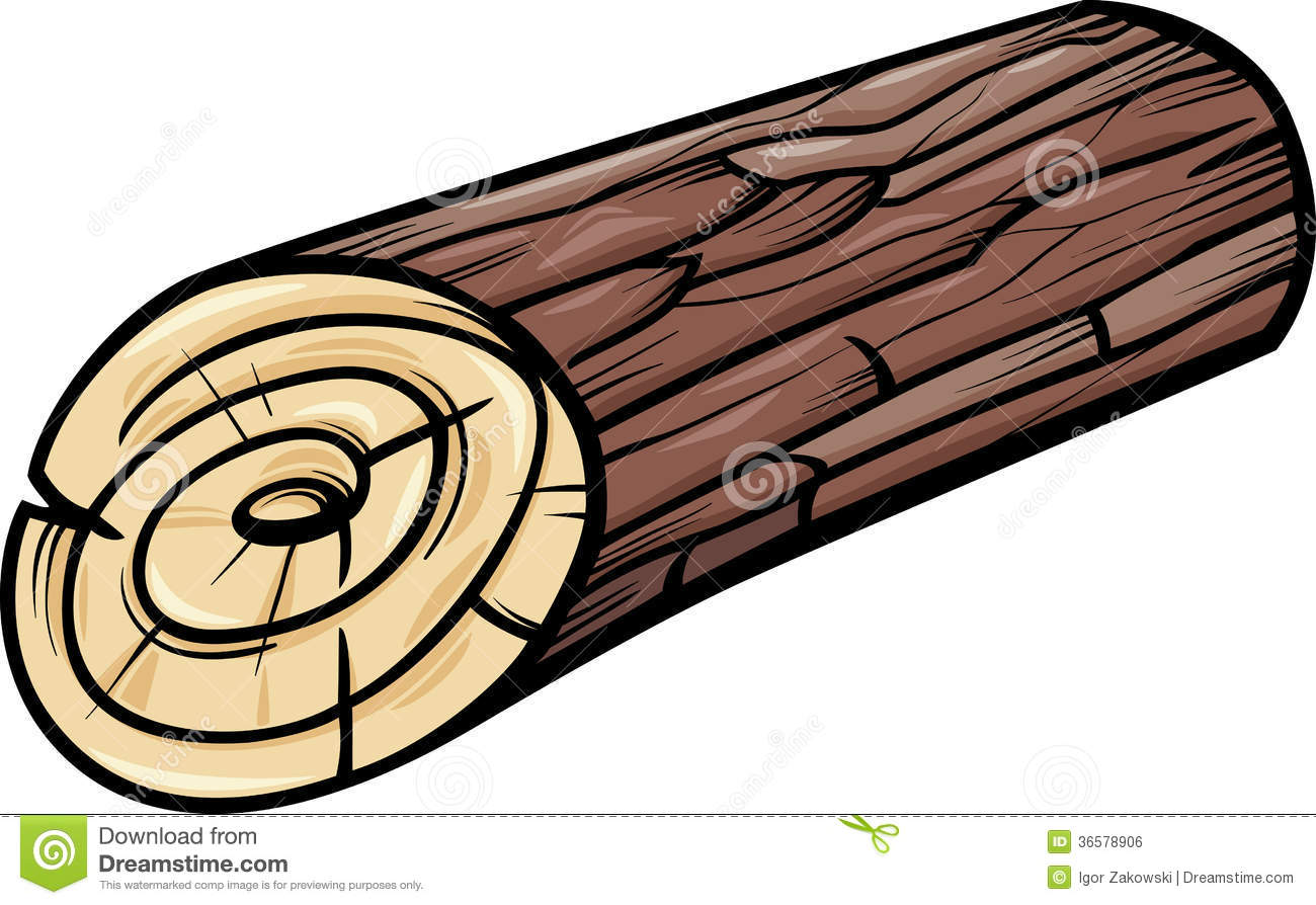 Wooden Log Or Stump Cartoon Clip Art Royalty Free Stock Image - Image ...