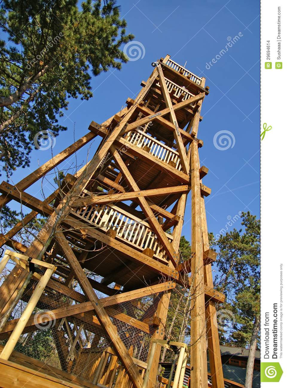Wooden lookout tower stock images image 29694614 for Lookout tower plans