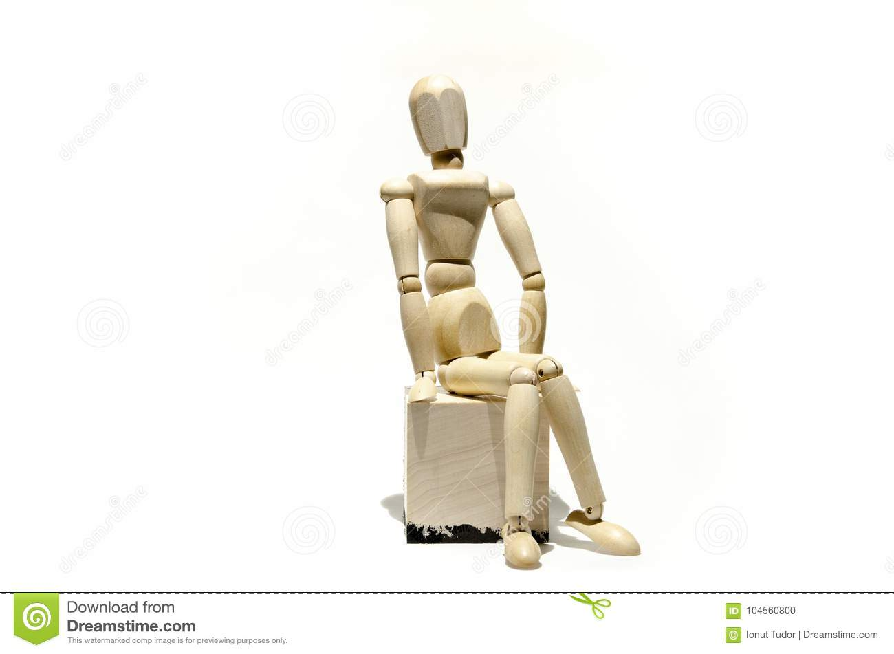 wooden mannequin model on wooden cube stock photo image of models