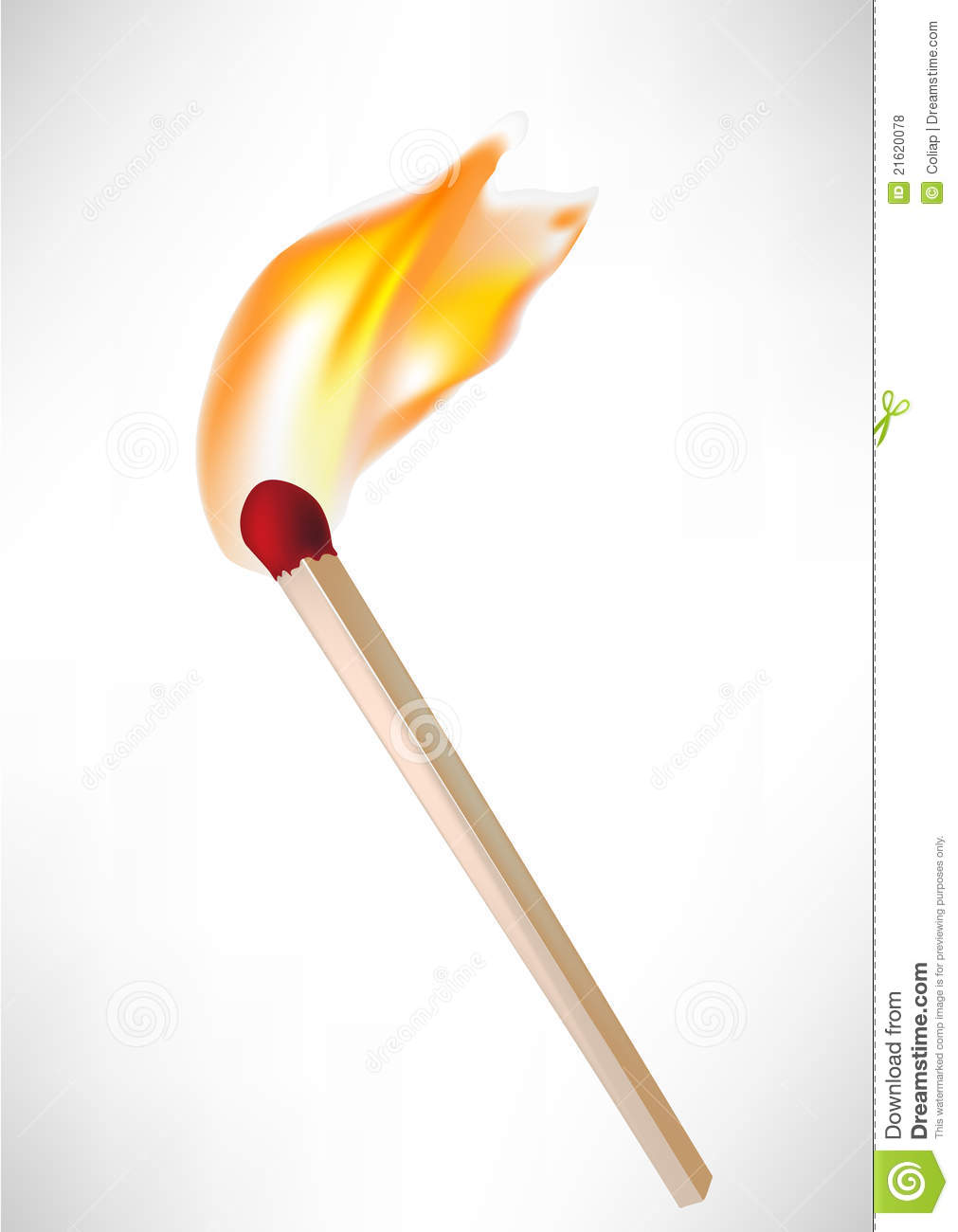 Wooden Match With Flame Royalty Free Stock Photos Image