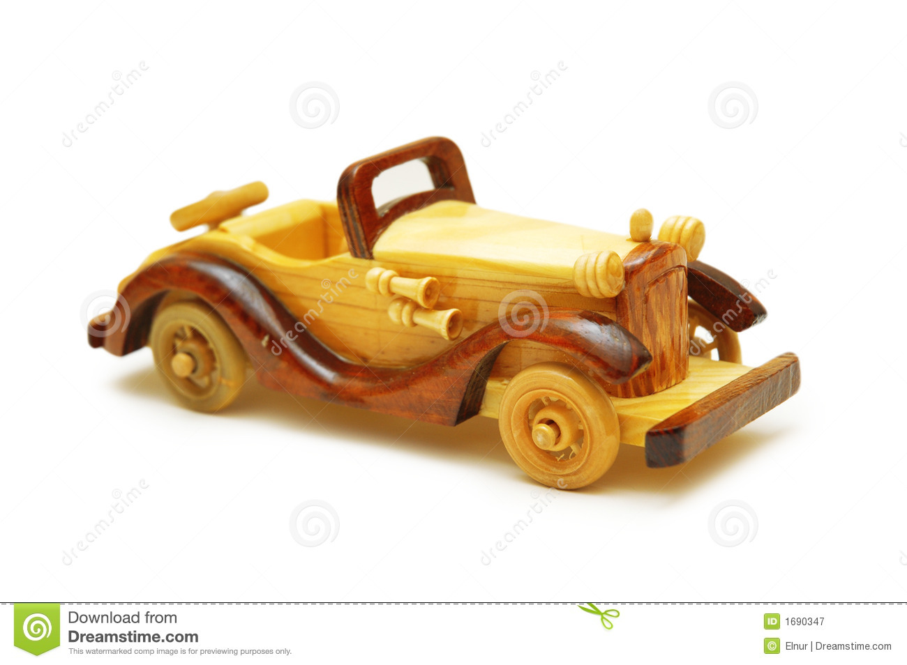 wooden model of retro car isolated stock image image of custom