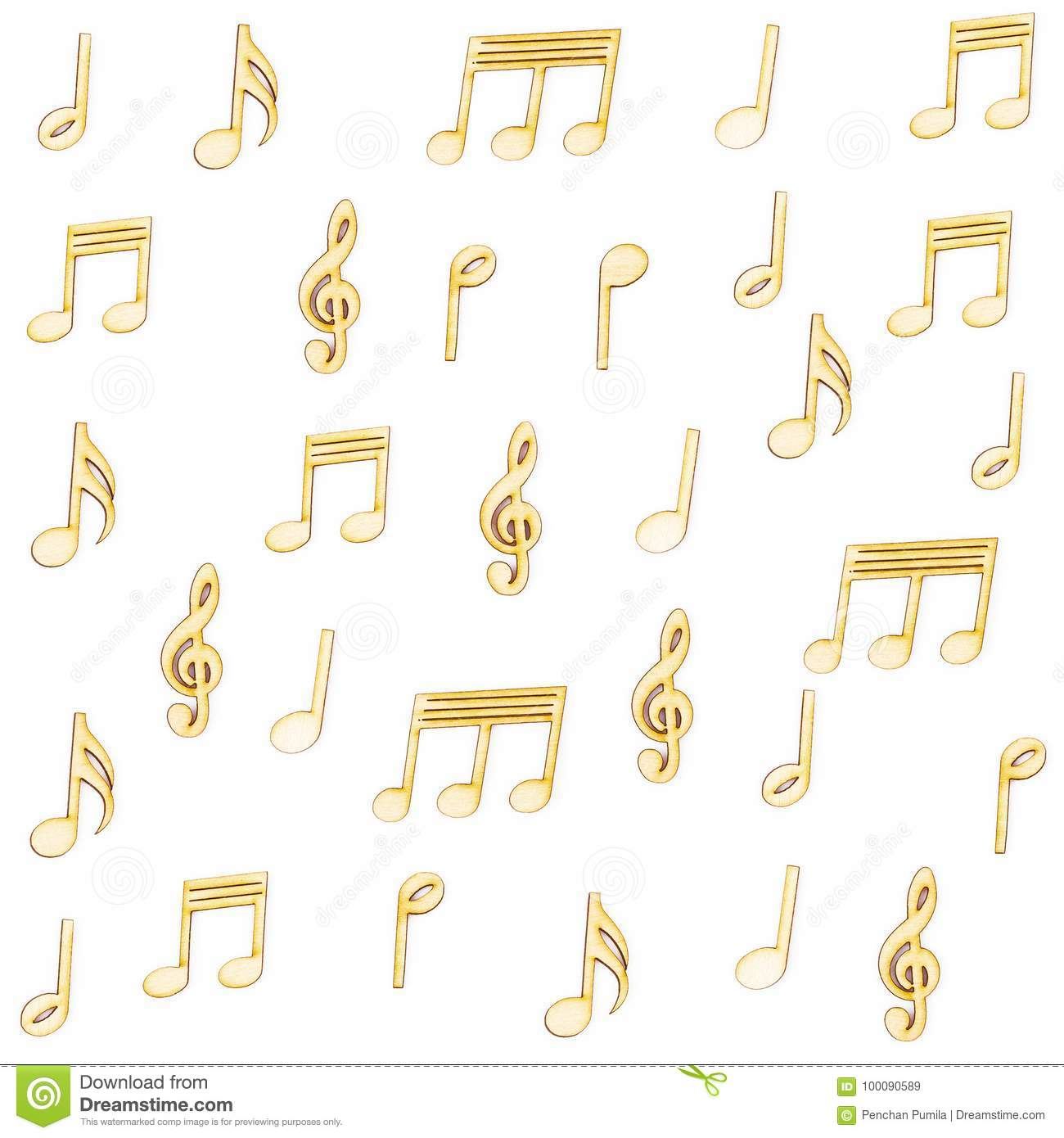 wooden music notes stock image image of line scribble 100090589