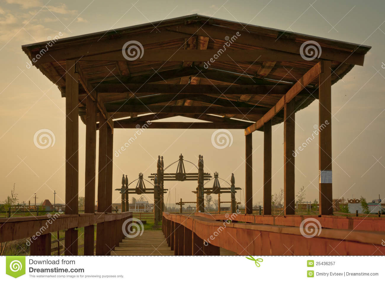 These constructions are been standing for celebration of national ...