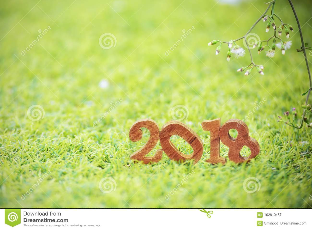 happy new year 2018 nature concept