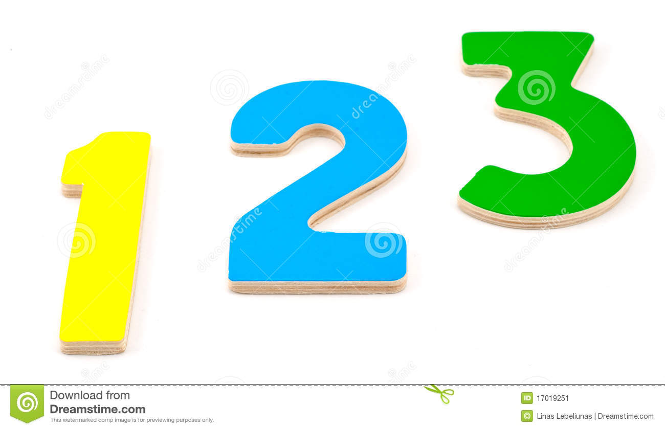 Wooden Numbers 1 2 3 Stock Image - Image: 17019251
