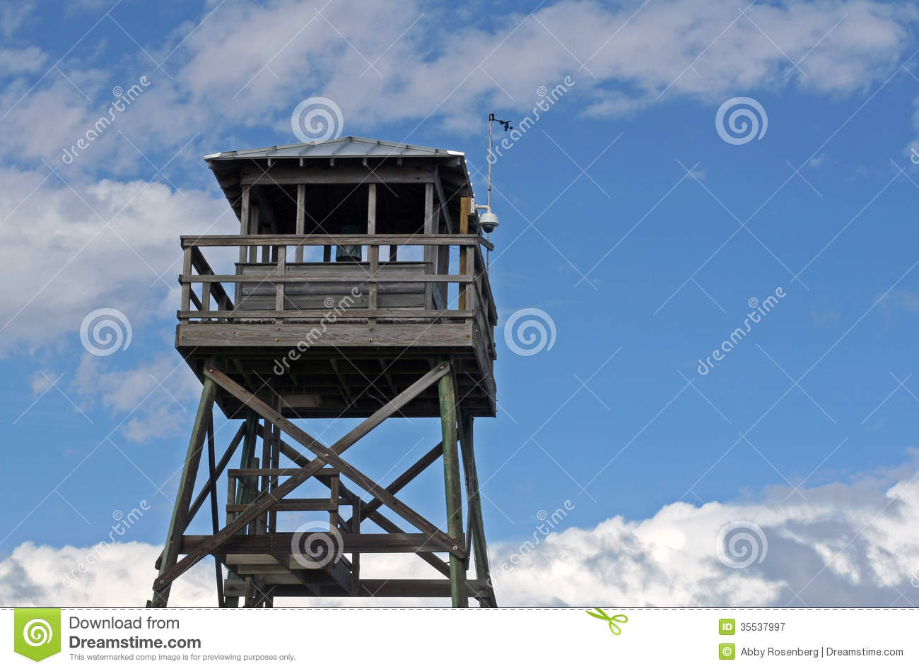 Wooden observation tower at beach stock image image for Observation tower plans