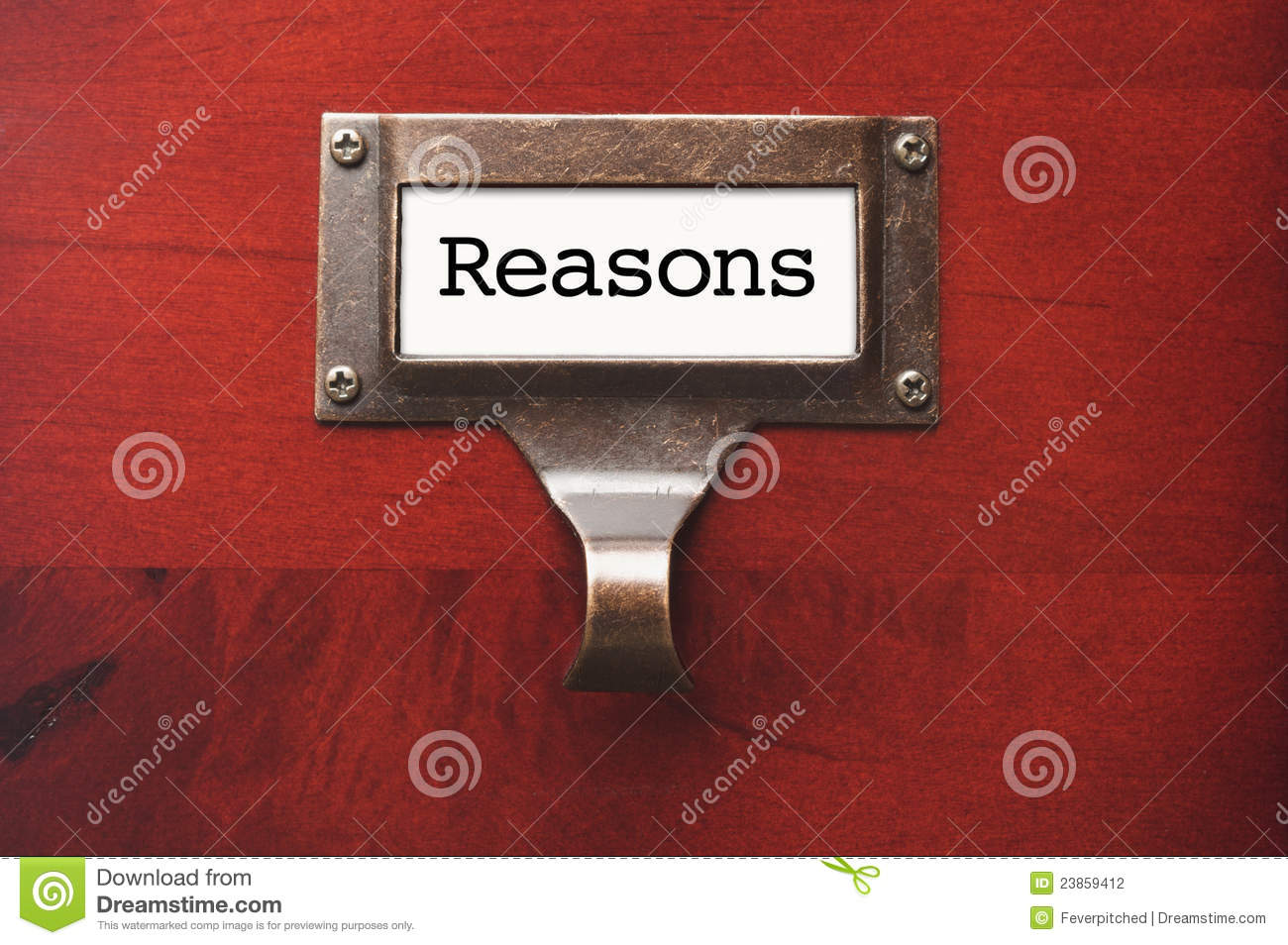 Wooden Office File Cabinet with Reasons Label