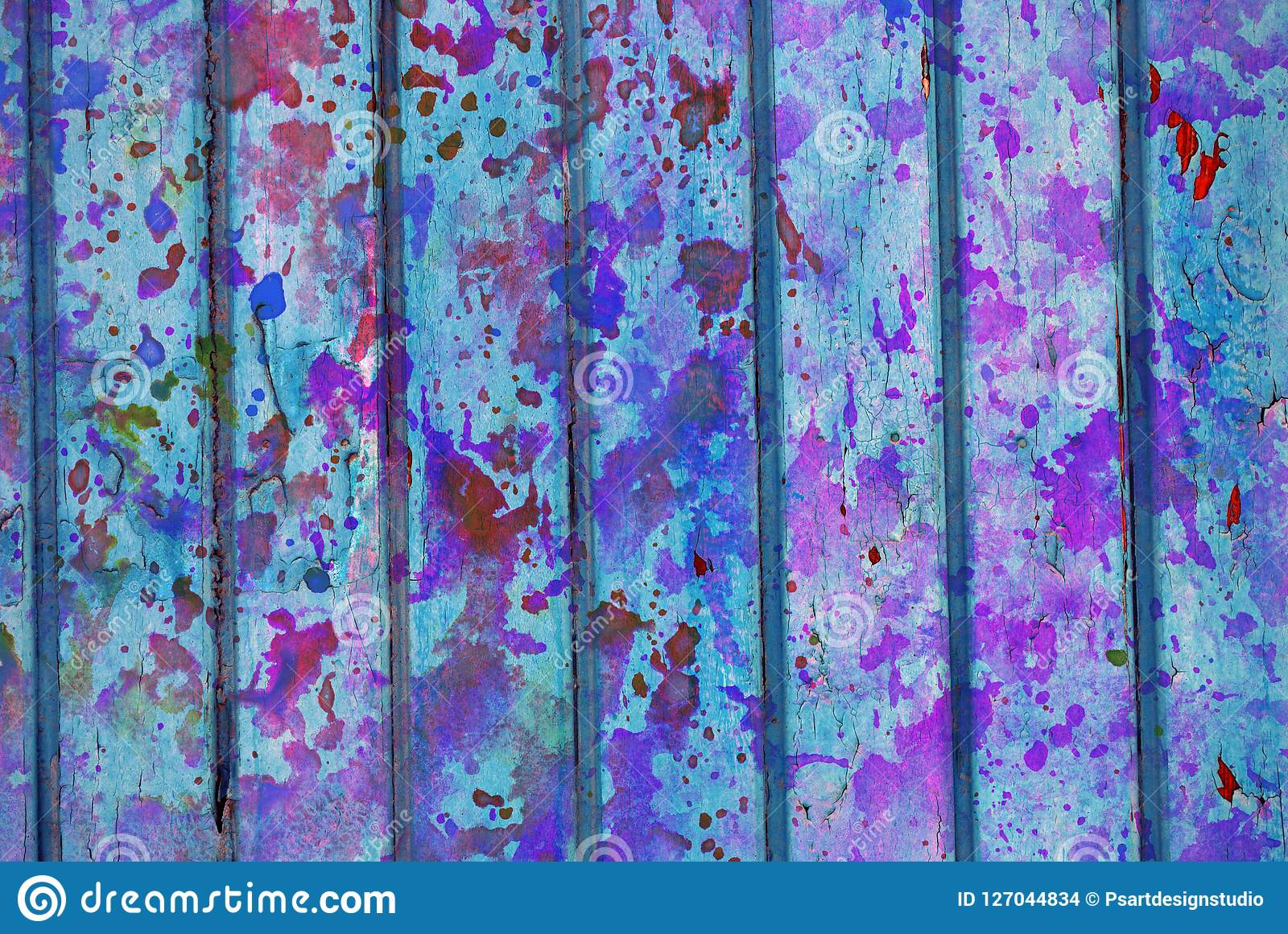 Mixed Media Artwork Abstract Colorful Artistic Painted Layer In