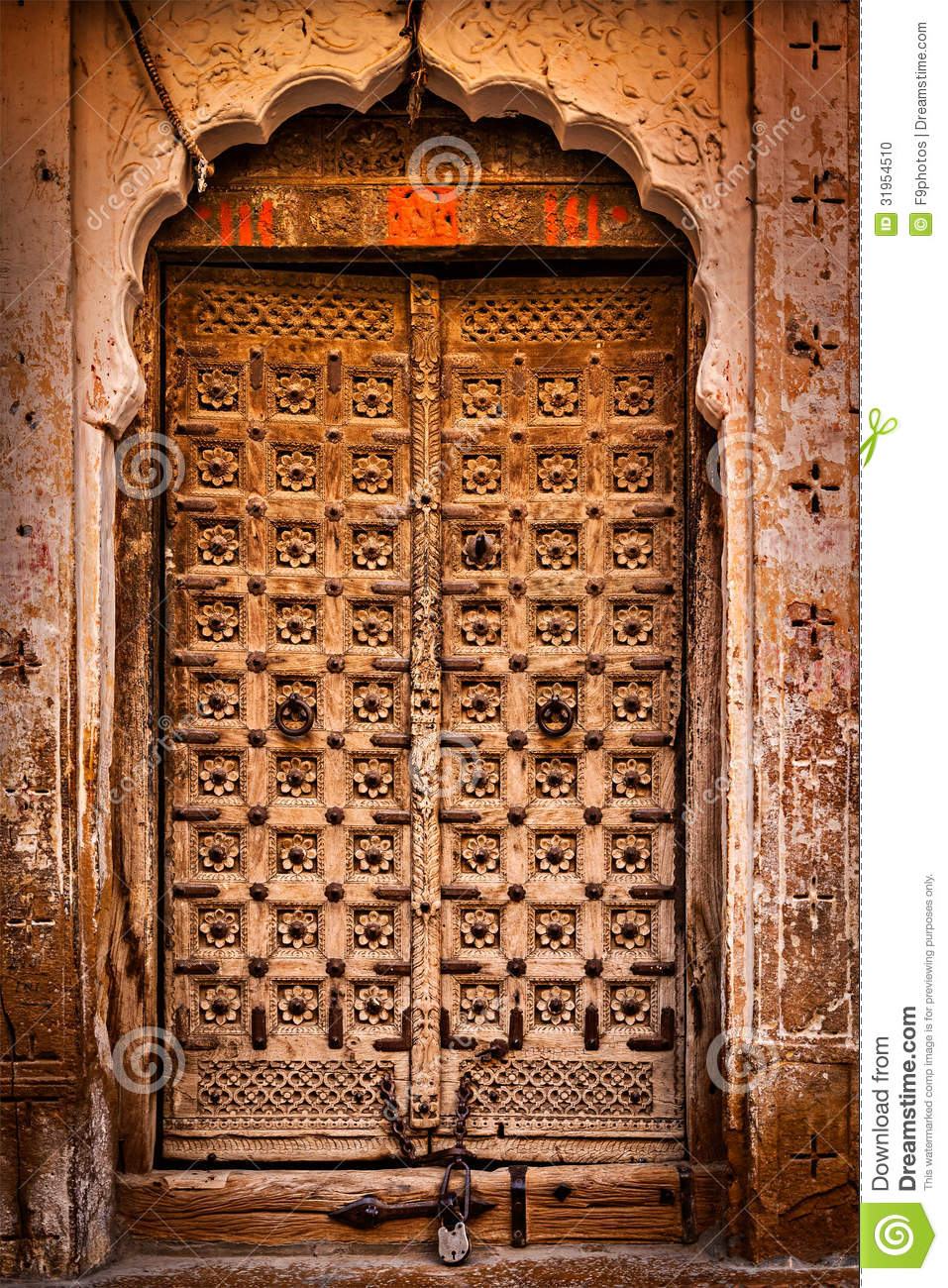 Wooden Old Door Vintage Background Stock Photo Image Of