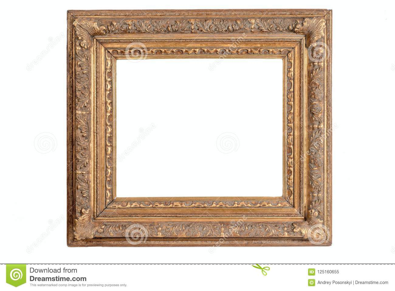 Wooden Old Picture Frames Stock Image Image Of Oval 125160655