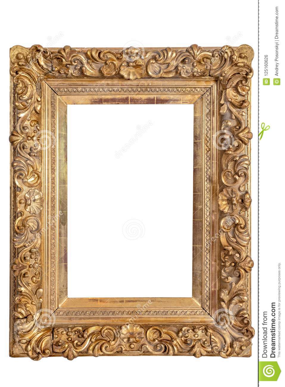 Wooden old picture frames stock photo. Image of decorative - 125160626