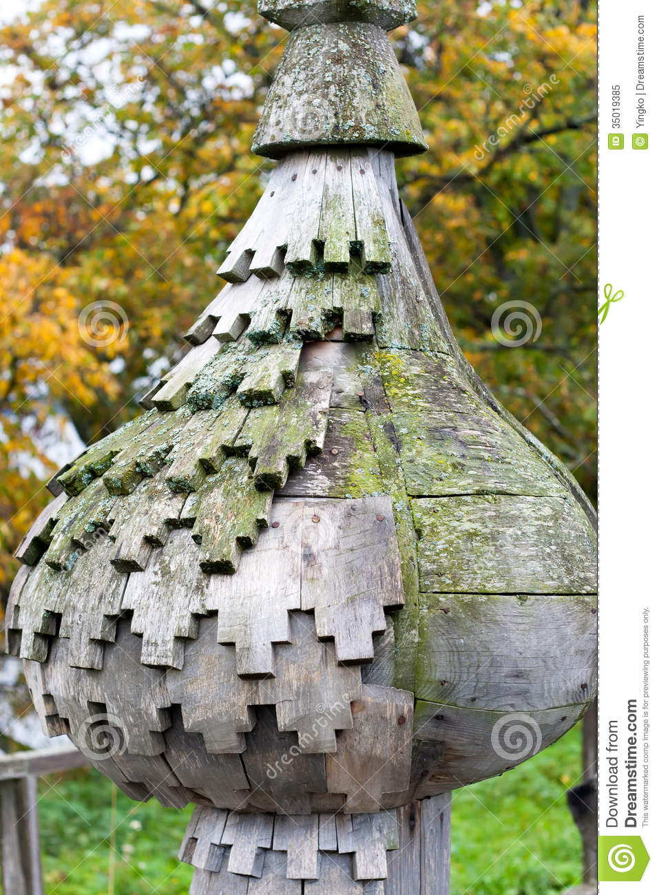 Wooden Onion Dome Royalty Free Stock Photo - Image: 35019385