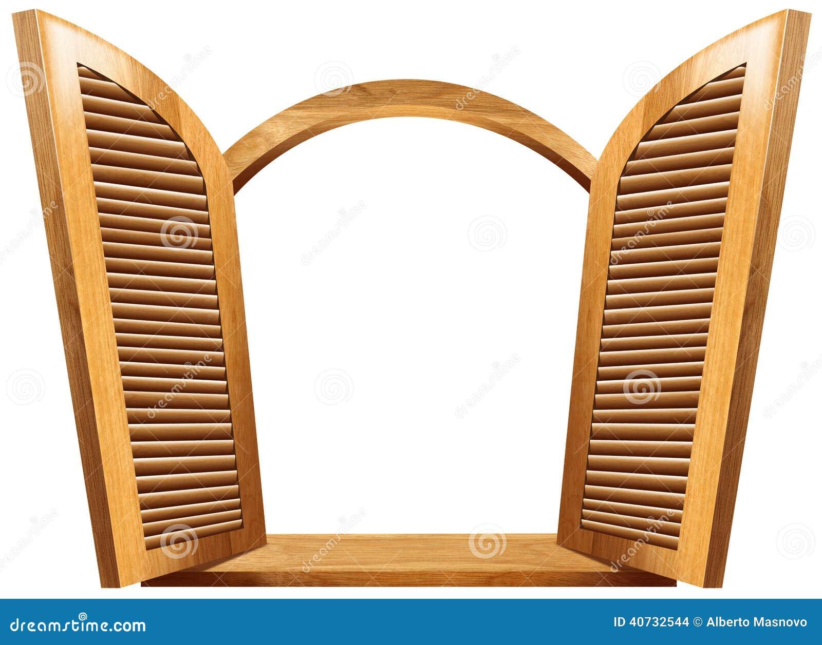Wooden Open Window